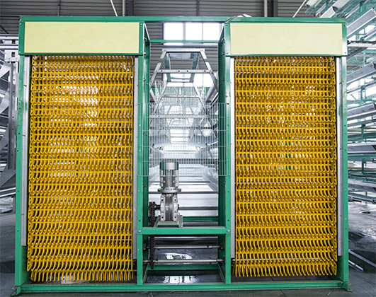 The egg collecting machine can meet all your needs in your poultry farming equipment of hen battery cages.